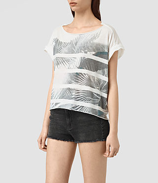 Womens Java Pina Tee (Chalk White) - product_image_alt_text_3