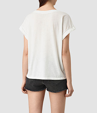 Womens Java Pina Tee (Chalk White) - product_image_alt_text_4