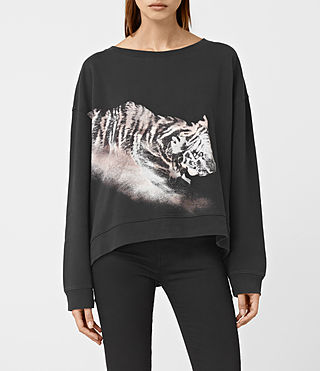 Womens Tora Lo Sweatshirt (Fadeout Black) - product_image_alt_text_1