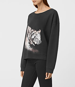 Womens Tora Lo Sweatshirt (Fadeout Black) - product_image_alt_text_2