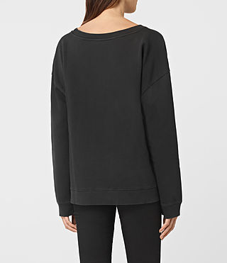 Womens Tora Lo Sweatshirt (Fadeout Black) - product_image_alt_text_3
