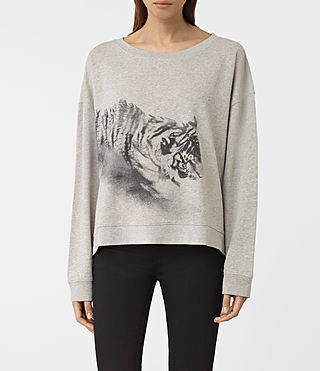 Donne Tora Lo Sweat (Light Grey Marl) -