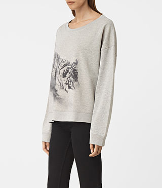 Donne Tora Lo Sweat (Light Grey Marl) - product_image_alt_text_2