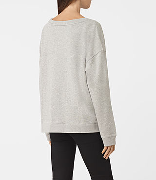 Donne Tora Lo Sweat (Light Grey Marl) - product_image_alt_text_3