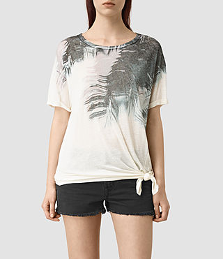 Womens Guinea Heny T-Shirt (Chalk White)