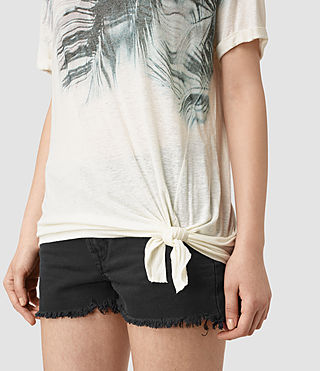 Women's Guinea Heny T-Shirt (Chalk White) - product_image_alt_text_2