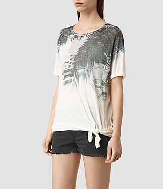 Women's Guinea Heny T-Shirt (Chalk White) - product_image_alt_text_3