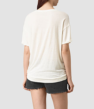 Women's Guinea Heny T-Shirt (Chalk White) - product_image_alt_text_4