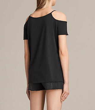 Mujer Camiseta Ceylon Tyra (Fadeout Black) - product_image_alt_text_3