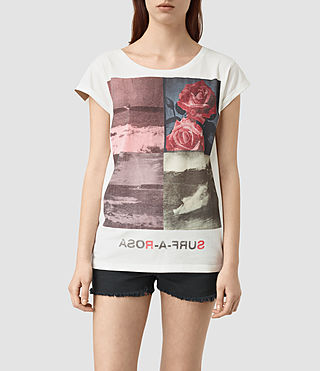 Womens Limits Boyfriend Tee (Chalk White)