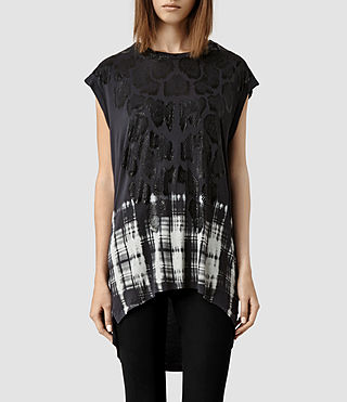 Womens Hex Top (Deep Black)