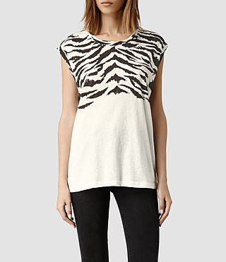Womens Tigre Straight Tee (Chalk)