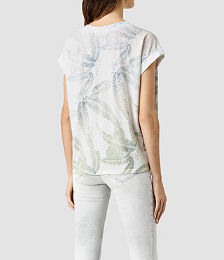 Womens Fuji Pina Tee (Chalk White) - product_image_alt_text_3