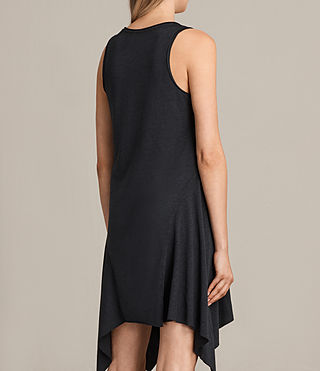 Women's Tany Loire Dress (DARK NIGHT BLUE) - product_image_alt_text_6
