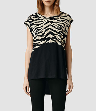 Womens Tigre Curved Tee (Black)