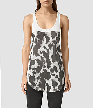 Womens Montauld Edge Tank (Chalk White)