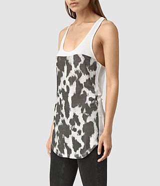 Mujer Montauld Edge Tank (Chalk White) - product_image_alt_text_2