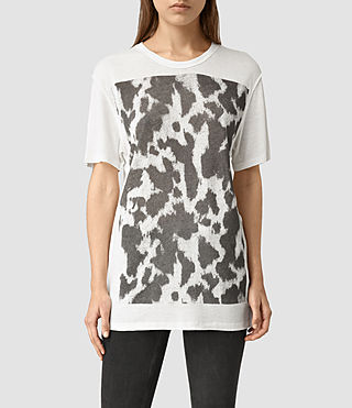 Womens Montauld Cadfer Tee (Chalk White)