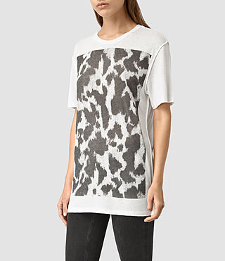 Womens Montauld Cadfer Tee (Chalk White) - product_image_alt_text_2