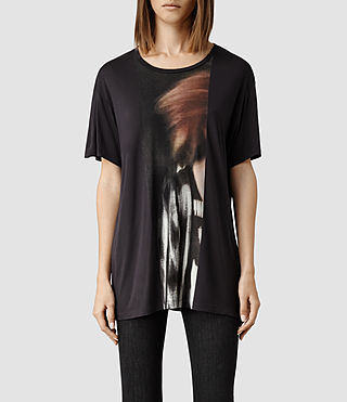 Womens Woosh T-shirt (Washed Black)