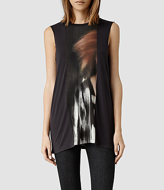 Womens Woosh Top (Washed Black)