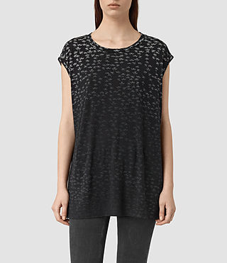 Damen Salix Brooke Tee (Black) -