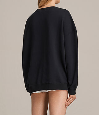 Damen Benin Lo Sweatshirt (Black) - product_image_alt_text_3