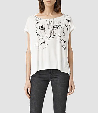 Womens Mau Pina Tee (Chalk White)