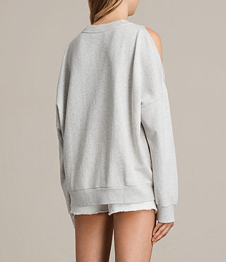 Femmes Wing Unai Sweatshirt (Light Grey Marl) - product_image_alt_text_4
