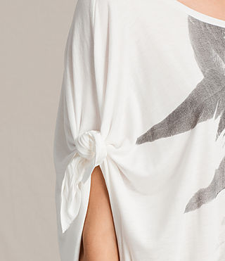 Womens Wing Catkin Tee Dress (Chalk White) - product_image_alt_text_2