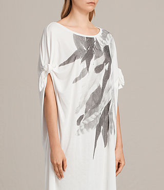 Womens Wing Catkin Tee Dress (Chalk White) - product_image_alt_text_3