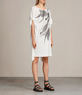 Womens Wing Catkin Tee Dress (Chalk White) - product_image_alt_text_4