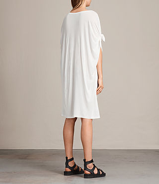 Womens Wing Catkin Tee Dress (Chalk White) - product_image_alt_text_5
