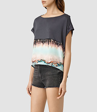 Womens Crystal Pina Tee (Deep Black) - product_image_alt_text_3