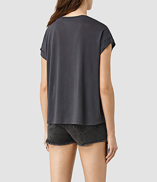Womens Crystal Pina Tee (Deep Black) - product_image_alt_text_4