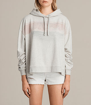 Womens 란카 로 후디 (Light Grey Marl)