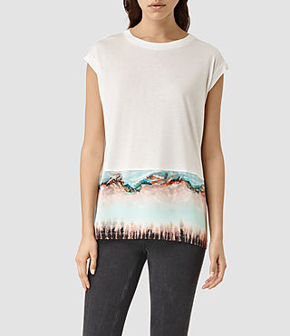 Damen Crystal Brooke Tee (Chalk White)