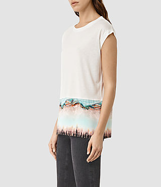 Women's Crystal Brooke Tee (Chalk White) - product_image_alt_text_2