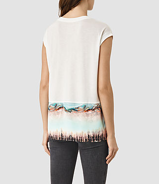 Womens Crystal Brooke Tee (SMOG WHITE) - product_image_alt_text_3