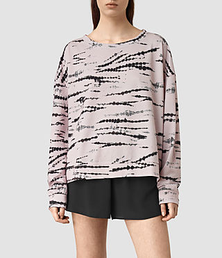 Womens Lo Tye Sweatshirt (Pink/Black)