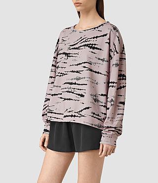 Femmes Lo Tye Sweatshirt (Pink/Black) - product_image_alt_text_2
