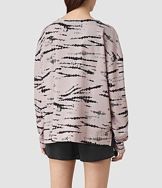 Damen Lo Tye Sweatshirt (Pink/Black) - product_image_alt_text_3