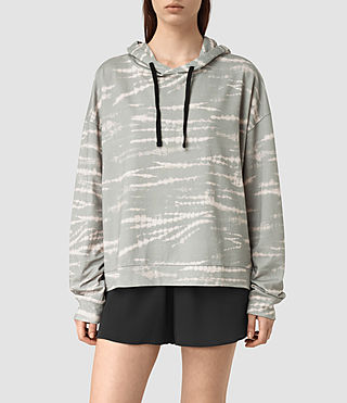 Mujer Lo Tye Hoody (Grey/Pink) - product_image_alt_text_1