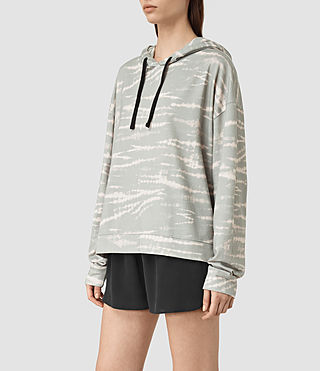 Mujer Lo Tye Hoody (Grey/Pink) - product_image_alt_text_2