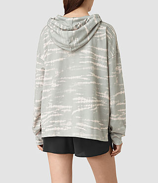 Mujer Lo Tye Hoody (Grey/Pink) - product_image_alt_text_3