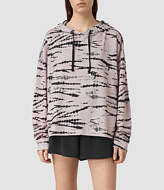 Mujer Lo Tye Hoody (Pink/Black) - product_image_alt_text_1