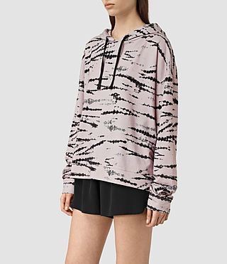 Womens Lo Tye Hoody (Pink/Black) - product_image_alt_text_2
