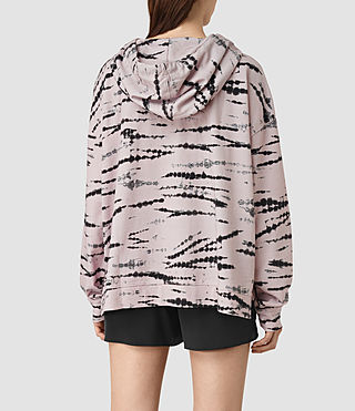 Mujer Lo Tye Hoody (Pink/Black) - product_image_alt_text_3