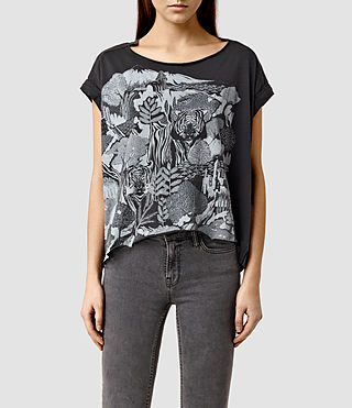 Womens Borneo Pina Tee (Washed Black)