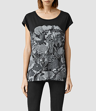 Womens Borneo Boyfriend Tee (Washed Black)